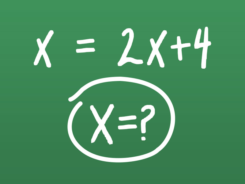 use of x as unknown in algebra explained mathrider