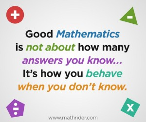 learning math is an attitude