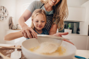 baking teaches kids how to do fractions