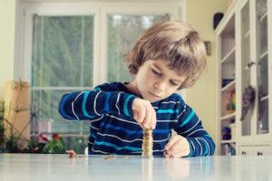 saving helps children practice their math