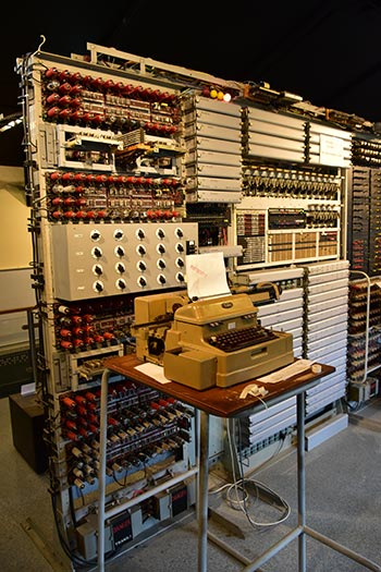 Alan Turing's Bombe machine used in breaking Enigma codes