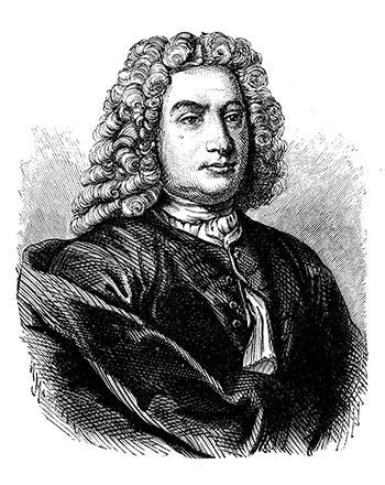 Portrait of the mathematician Daniel Bernoulli
