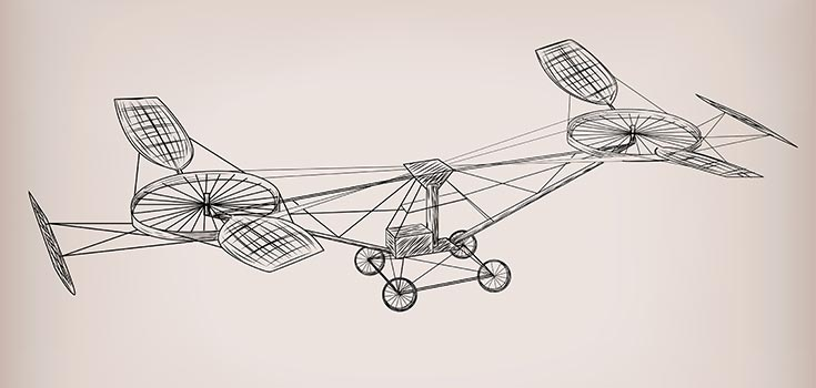 First helicopter ever invented through aeronautics
