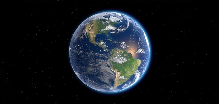 Spehrical shape of the Earth
