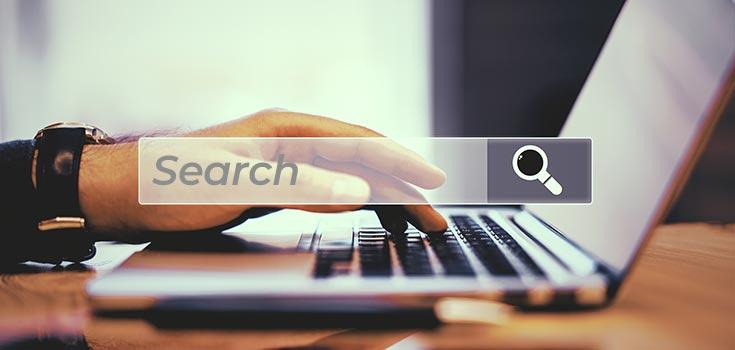 Person browsing the World Wide Web, developed using Internet Mathematics