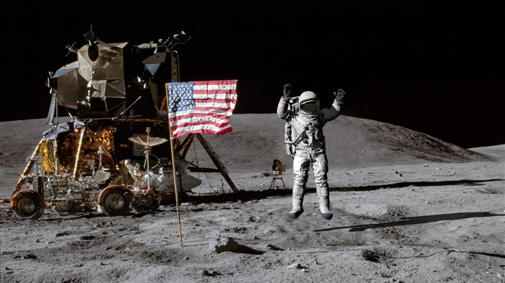 moon landing using math