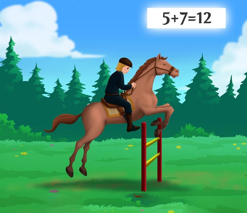 horse riding math game