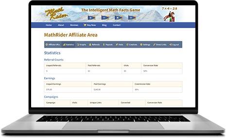 math rider affiliate area